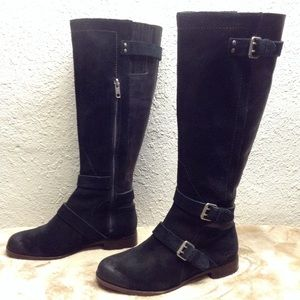 Ugg Cydnee Riding tall boots black suede leather 6